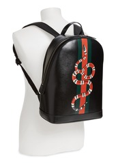 43feccfb3772 Gucci Snake Print Leather Backpack Gucci Snake Print Leather Backpack