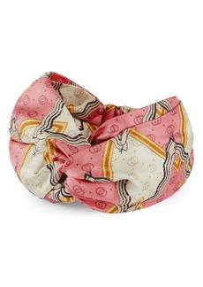 Gucci Snake Print Silk Headband