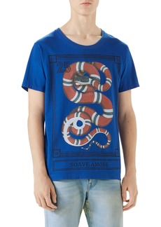 Gucci Snake Stamp Graphic T-Shirt