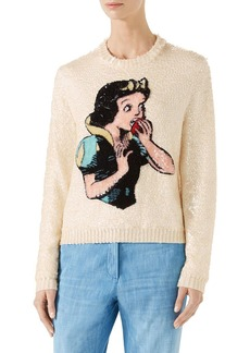 Gucci Snow White Sequin & Wool Sweater