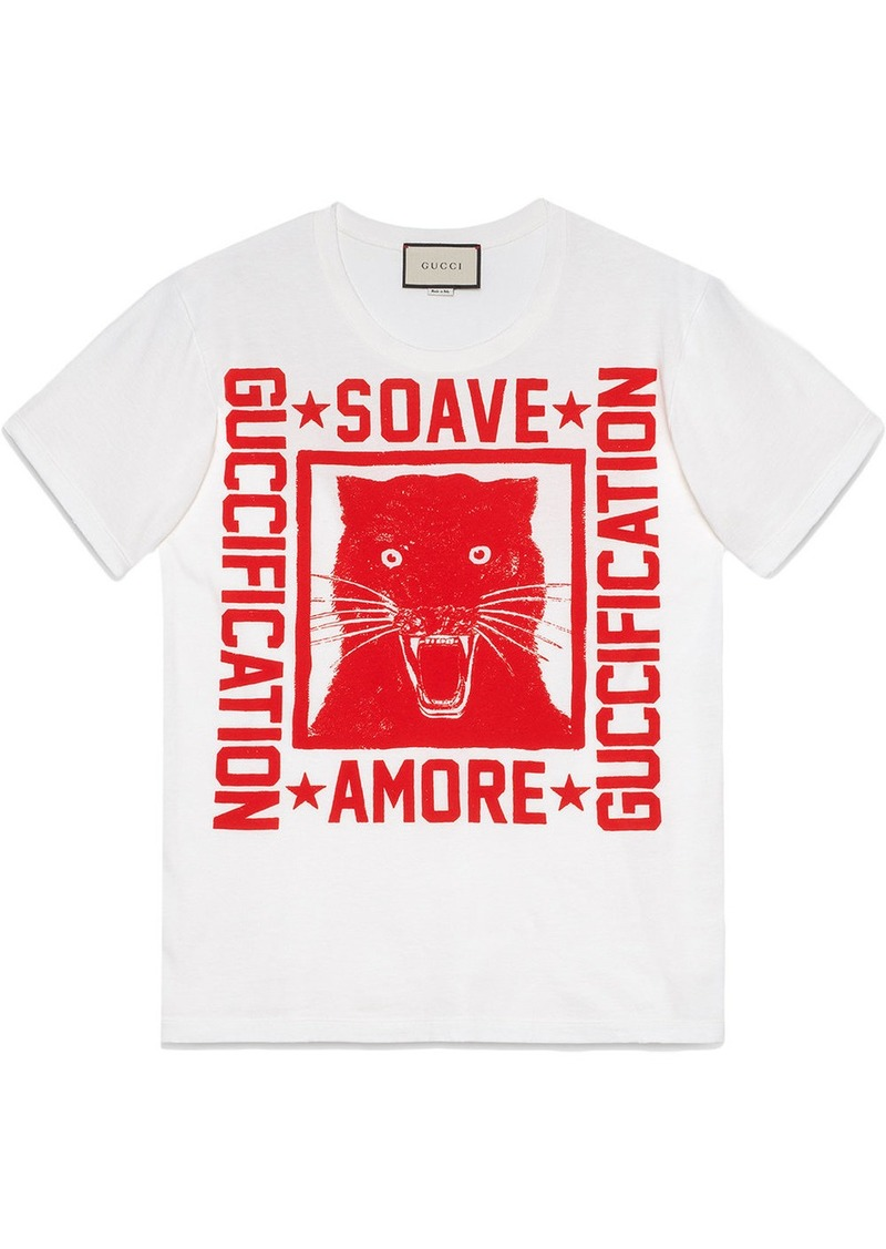 """Soave Amore Guccification"" print T-shirt"