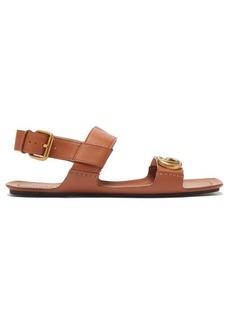 Gucci Sonique GG leather sandals