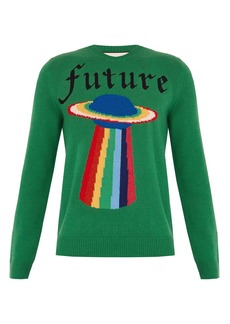 Gucci Spaceship-intarsia wool sweater