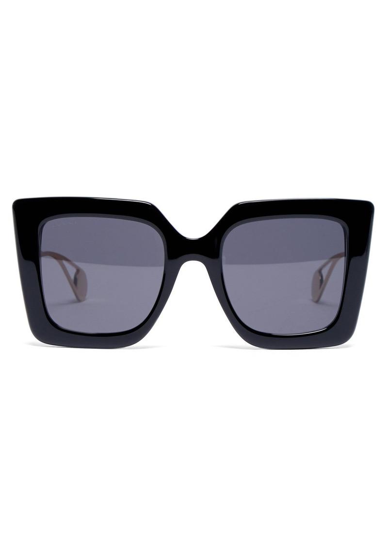 6e3caec9471 Gucci Gucci Square-frame acetate and metal sunglasses