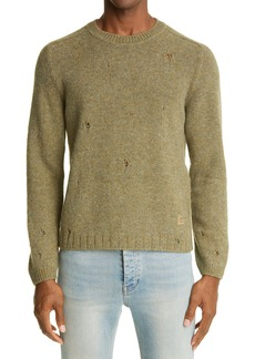 Gucci Square-G Logo Distressed Wool Sweater