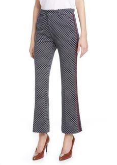 Gucci Square G-Logo Jacquard Jersey Bootcut Pants