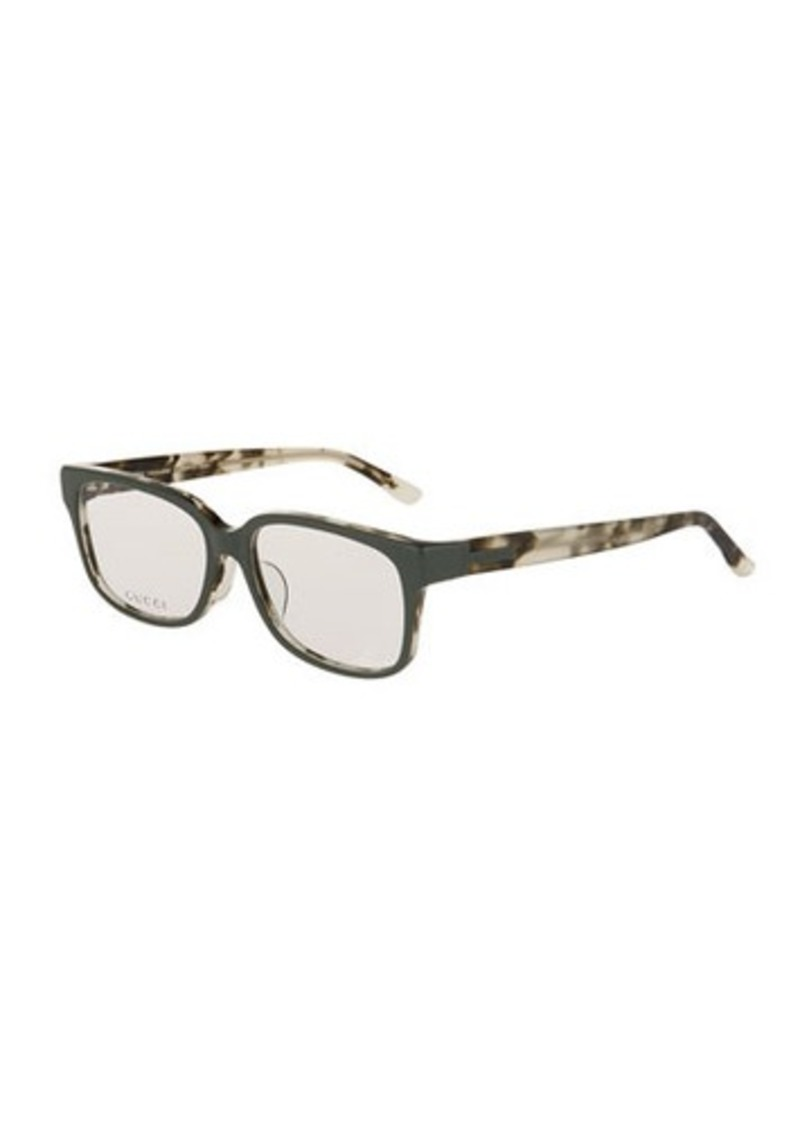 e1c2f40775c Gucci Gucci Square Havana Acetate Optical Glasses