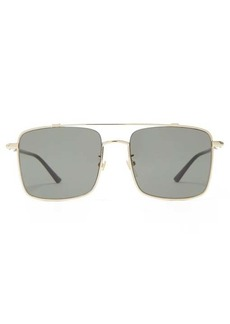 Gucci Square metal aviator sunglasses