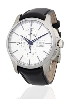Gucci Stainless Steel Automatic Leather-Strap Watch