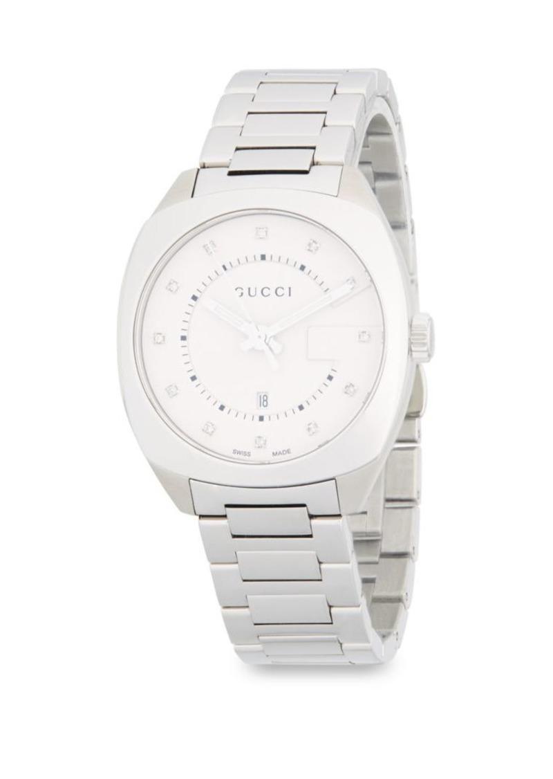 188b81d482b On Sale today! Gucci Stainless Steel   Diamond Bracelet Watch