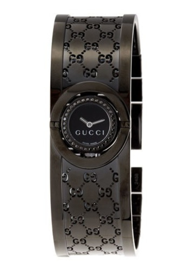 f43751b5cd3 Gucci Gucci Stainless Steel Twirl Flip Bangle Watch Now  1