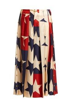 Gucci Star-print silk culottes