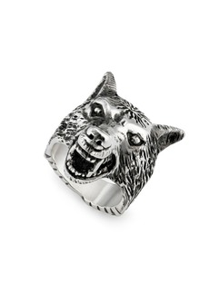 Gucci Sterling Silver Anger Forest Wolf Ring