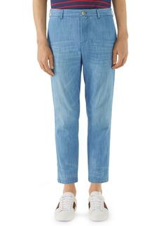Gucci Stonewashed Bleach Denim Pants