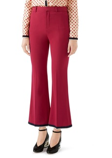 Gucci Stretch Cady Crop Bootcut Pants