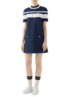 Gucci Stripe A-Line Jersey Piqué Dress