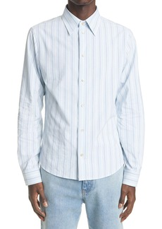 Gucci Stripe Men's Long Sleeve Button-Up Shirt
