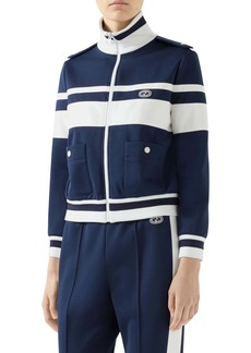 Gucci Stripe Piqué Track Jacket