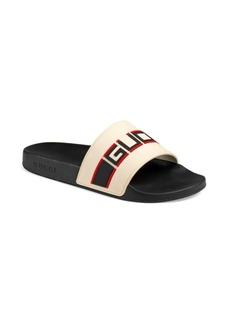 Pursuit Gucci Stripe Rubber Slide Sandal