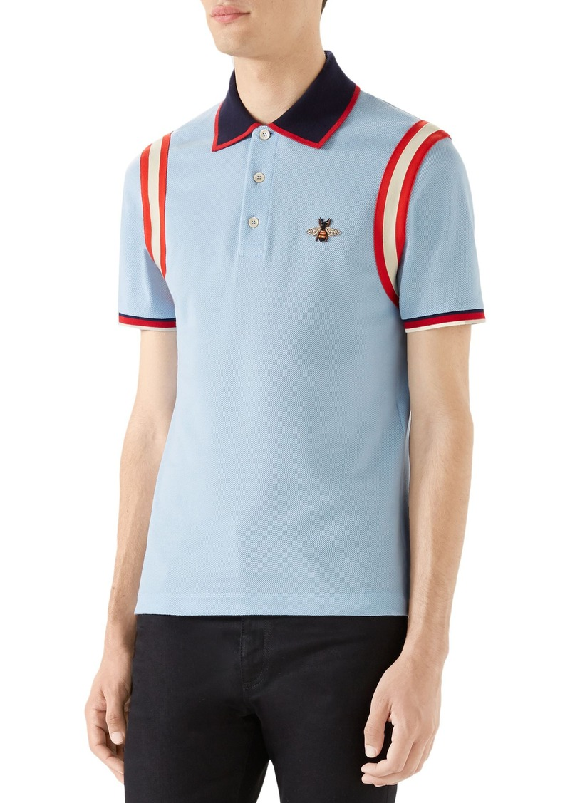 4a65e720 Gucci Gucci Stripe Sleeve Bee Polo | Casual Shirts