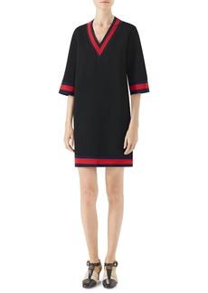 Gucci Stripe Trim Shift Dress