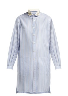 Gucci Striped long-line cotton shirt