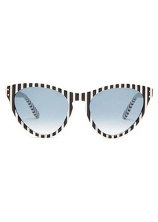 Gucci Striped oversized cat-eye acetate sunglasses
