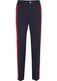 Gucci Striped wool-blend crepe track pants
