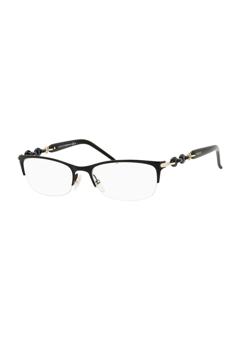 Gucci Sunsights Chain-Detail Half-Rim Fashion Glasses