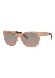Gucci Sunsights Mirrored GG Texture Sunglasses