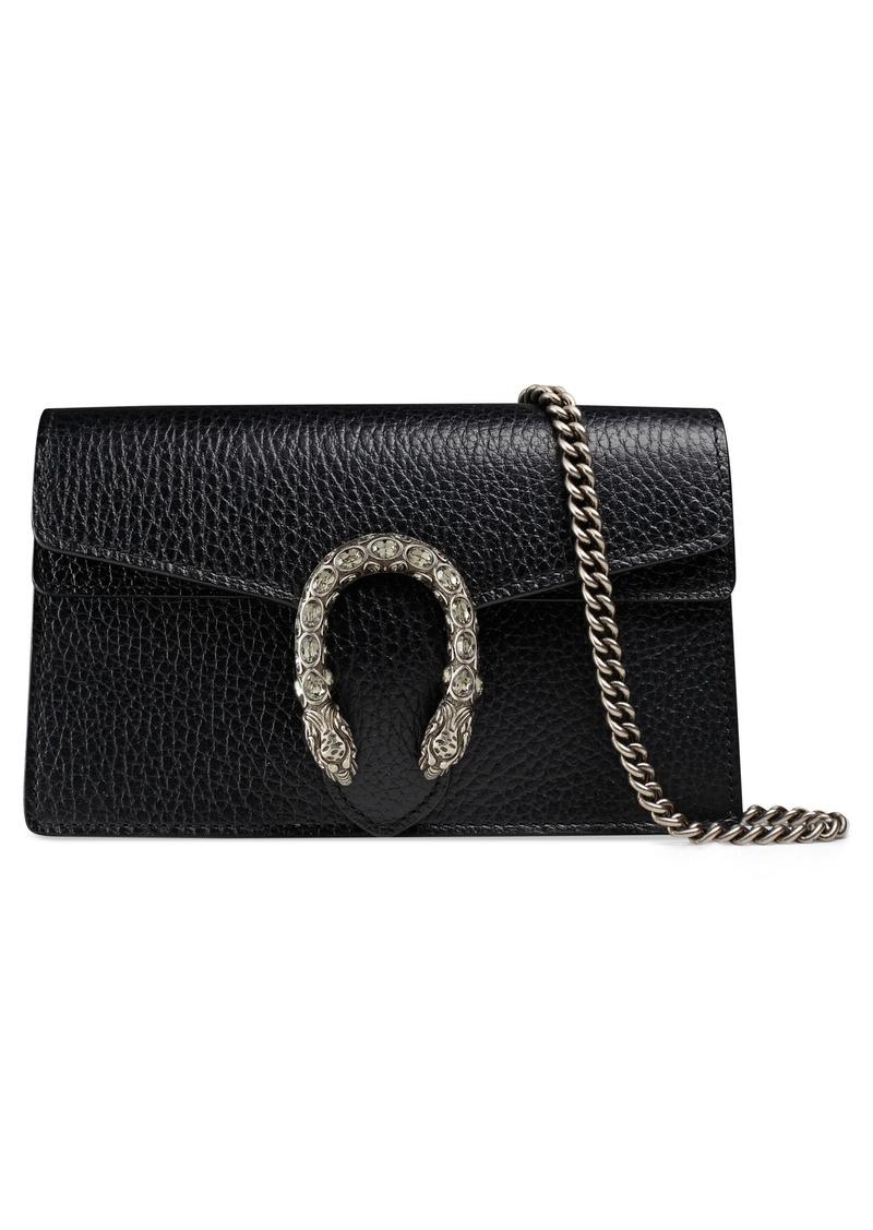 1a918b1cf68124 Gucci Gucci Super Mini Dionysus Leather Shoulder Bag | Handbags