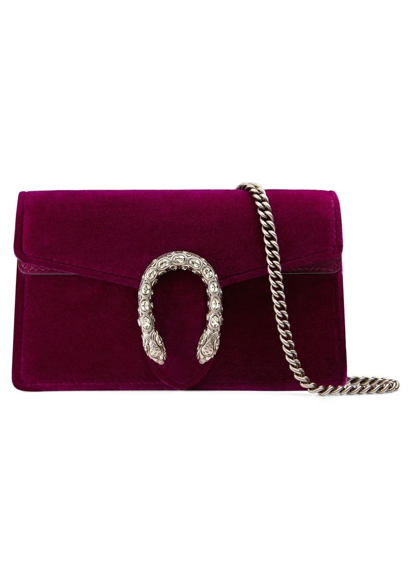 68d2926c0ce Gucci Gucci Super Mini Dionysus Velvet Shoulder Bag