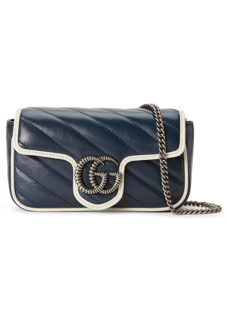 Gucci Super Mini GG Marmont Quilted Leather Shoulder Bag