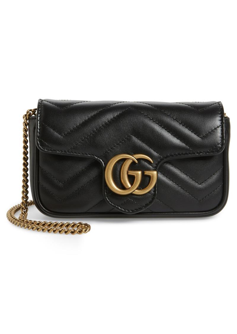 Gucci Supermini Matelassé Leather Shoulder Bag