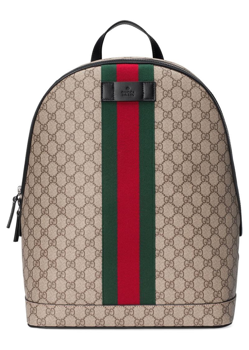 Gucci Gucci Supreme Stripe Backpack