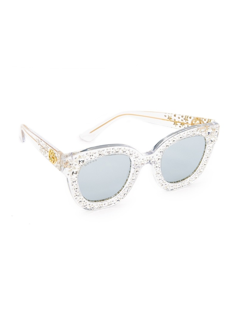 Gucci Swarovski Crystal Square Sunglasses