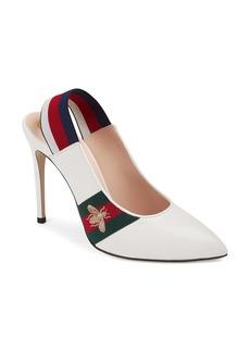 Gucci Sylvie Bee Slingback Pump (Women)