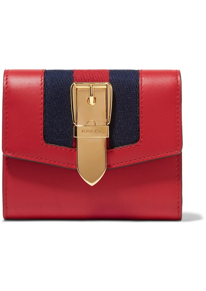 0ce04413029a Gucci Gucci Sylvie canvas-trimmed leather wallet | Handbags
