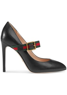 Gucci Sylvie leather mid-heel pumps