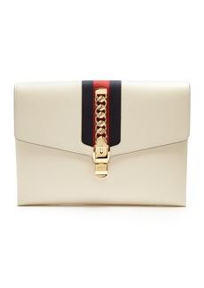 Gucci Sylvie leather shoulder clutch