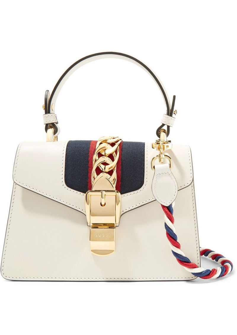 87ba0716d Gucci Gucci Sylvie mini chain-embellished leather shoulder bag ...