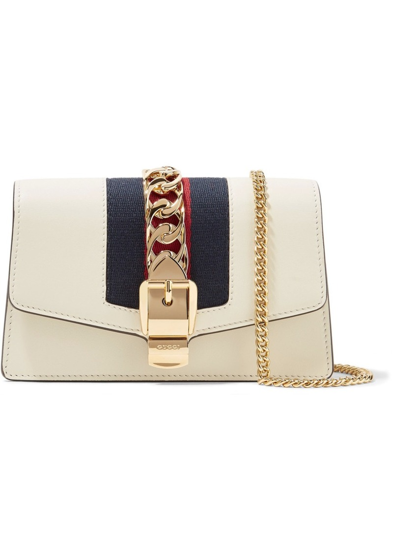 d5314d75886 Gucci Sylvie Mini Chain-embellished Leather Shoulder Bag