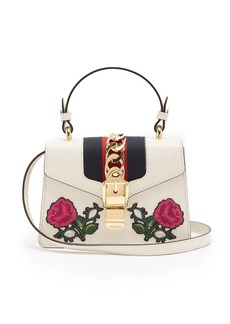 Gucci Sylvie mini embroidered leather shoulder bag