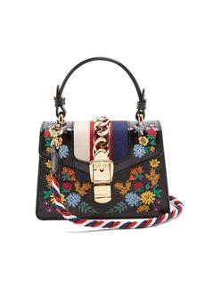 Gucci Sylvie mini floral-embroidered shoulder bag