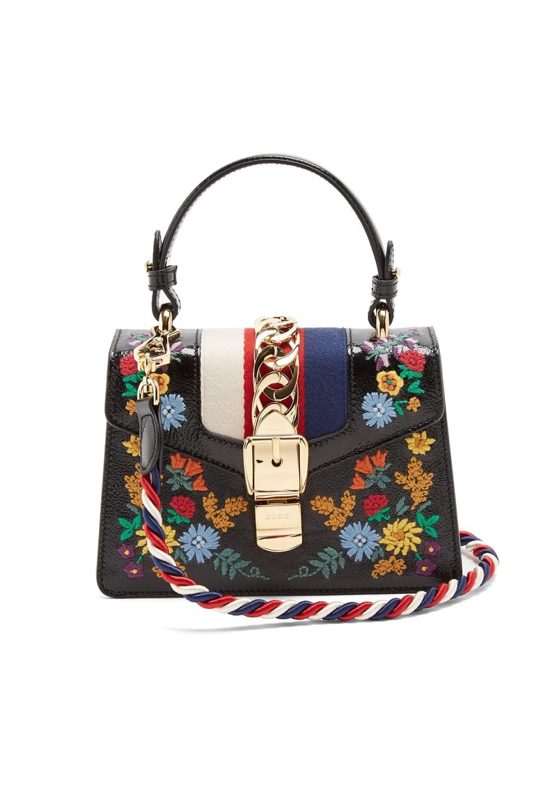 c65e1a331 Gucci Gucci Sylvie mini floral-embroidered shoulder bag | Handbags