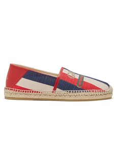 Gucci Sylvie striped canvas espadrilles