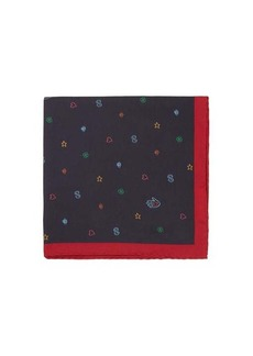 Gucci Symbols-print silk-faille pocket square