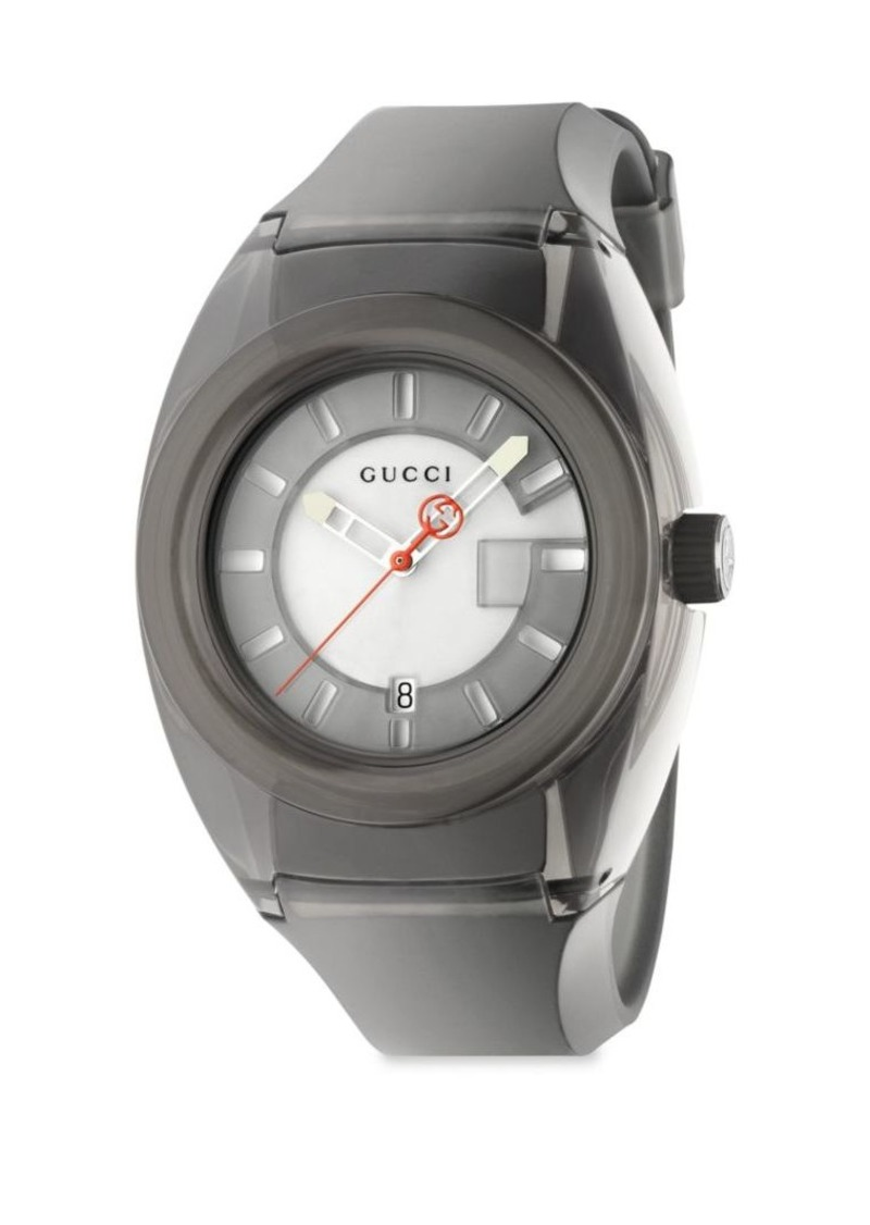 102ddfa390e Gucci Sync Stainless Steel Rubber Watch