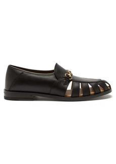 Gucci Talete Horsebit cutout leather loafers