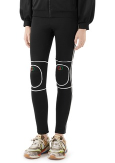 Gucci Tech Jersey Leggings with Knee Pads